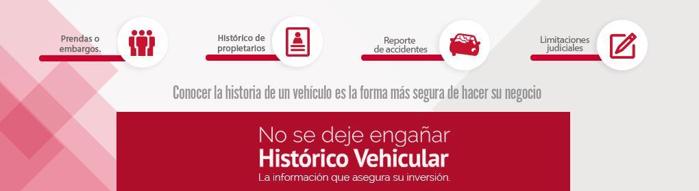 Histórico vehicular.
